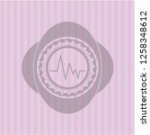 electrocardiogram icon inside... | Shutterstock .eps vector #1258348612