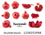 set with different fresh ripe... | Shutterstock . vector #1258353988