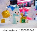 selective focus snow man doll... | Shutterstock . vector #1258372045