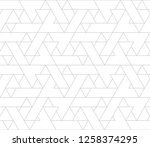abstract geometric pattern with ... | Shutterstock .eps vector #1258374295