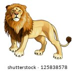 lion king. vector isolated... | Shutterstock .eps vector #125838578