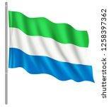 flag of sierra leone with flag... | Shutterstock .eps vector #1258397362
