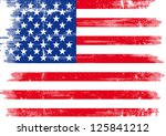us dirty flag. an american... | Shutterstock .eps vector #125841212
