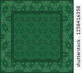 design for square fashion print.... | Shutterstock .eps vector #1258416358