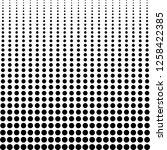 halftone background  decreasing ... | Shutterstock .eps vector #1258422385