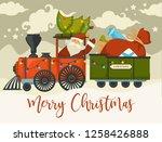 christmas holiday preparation... | Shutterstock .eps vector #1258426888