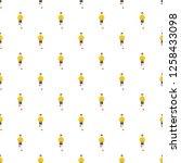 goalie pattern seamless repeat... | Shutterstock . vector #1258433098