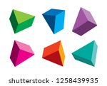 colorful triangles from... | Shutterstock .eps vector #1258439935
