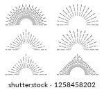 retro sunburst frames. vintage... | Shutterstock . vector #1258458202
