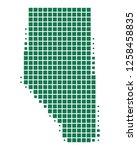 map of alberta | Shutterstock .eps vector #1258458835