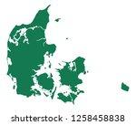 map of denmark | Shutterstock .eps vector #1258458838