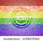 orchestra emblem on mosaic... | Shutterstock .eps vector #1258470565