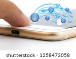phone on white background. | Shutterstock . vector #1258473058