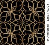 vintage arabesque style gold 3d ...   Shutterstock .eps vector #1258476775