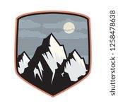 mountain logo  icon or symbol... | Shutterstock .eps vector #1258478638