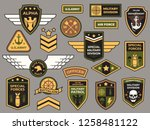 army badges. military patch ... | Shutterstock .eps vector #1258481122
