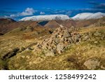 helm crag is a fell in the... | Shutterstock . vector #1258499242