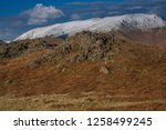 helm crag is a fell in the... | Shutterstock . vector #1258499245