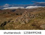 helm crag is a fell in the... | Shutterstock . vector #1258499248