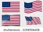 flag of the us 13 stars | Shutterstock .eps vector #1258506658