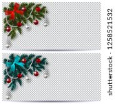 new year. christmas. green and... | Shutterstock .eps vector #1258521532