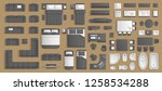 icons set of interior.... | Shutterstock .eps vector #1258534288