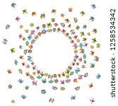 vector illustration. a large... | Shutterstock .eps vector #1258534342