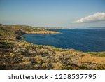 beautiful south aegean sea... | Shutterstock . vector #1258537795