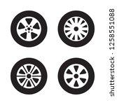 car wheel set  tire icons ... | Shutterstock .eps vector #1258551088