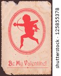 Vintage Valentine Card With...