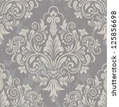damask seamless pattern for... | Shutterstock .eps vector #125856698