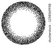 dot work sphere. pointillism... | Shutterstock .eps vector #1258569958