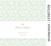 wedding card  invitation card | Shutterstock .eps vector #125857358