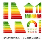 energy rating charts collection.... | Shutterstock .eps vector #1258593058