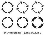 arrows in circular motion.... | Shutterstock . vector #1258602352