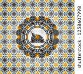 chicken dish icon inside... | Shutterstock .eps vector #1258607998