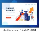 credit report vector...