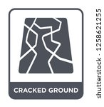 cracked ground icon vector on...   Shutterstock .eps vector #1258621255