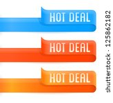 vector set of hot deal badges | Shutterstock .eps vector #125862182