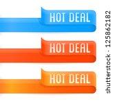 vector set of hot deal badges | Shutterstock .eps vector #125862182
