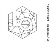 la initials geometric polygonal ...   Shutterstock .eps vector #1258626562
