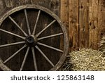 Vintage Wooden Carriage Wheel ...