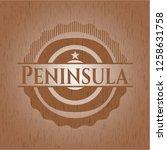 peninsula badge with wooden...   Shutterstock .eps vector #1258631758