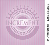 increment badge with pink...   Shutterstock .eps vector #1258631818