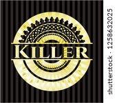 killer golden emblem or badge   Shutterstock .eps vector #1258632025