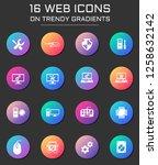 computer repair icon set.... | Shutterstock .eps vector #1258632142