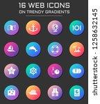 cruise icon set. cruise web... | Shutterstock .eps vector #1258632145
