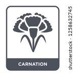 carnation icon vector on white... | Shutterstock .eps vector #1258632745