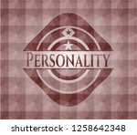 personality red seamless badge...   Shutterstock .eps vector #1258642348
