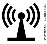 wifi router glyph icon  | Shutterstock .eps vector #1258664188